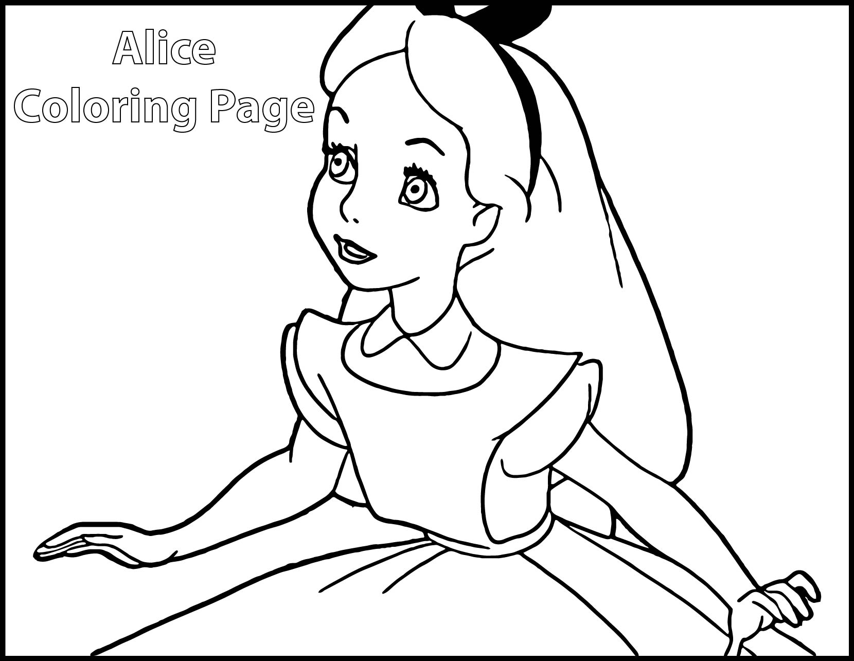 1660x1285 Alice In Wonderland Coloring Pages