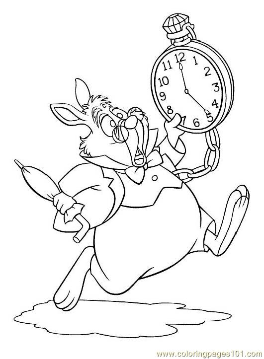 531x723 Alice In Wonderland (6) Coloring Page
