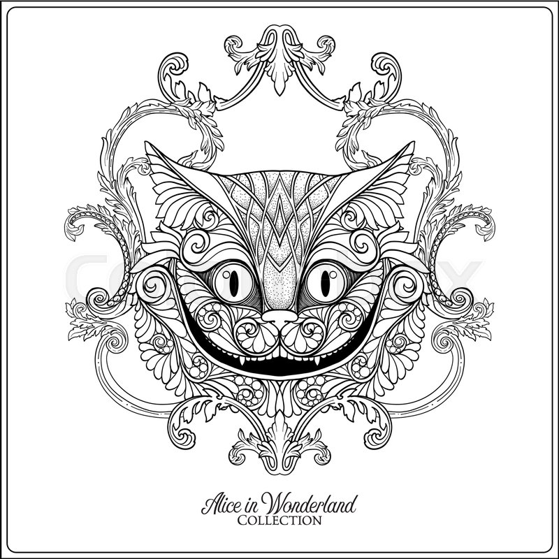 Alice In Wonderland Cat Drawing at GetDrawings.com | Free for ...