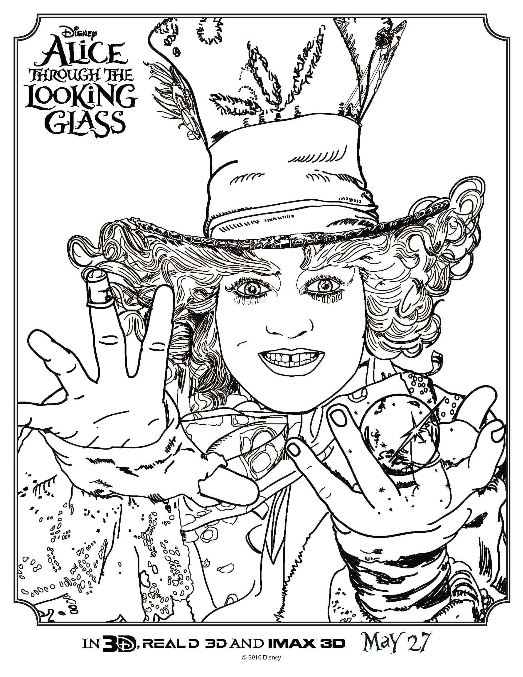 1700x2200 Alice In Wonderland Coloring Pages Caterpillar Printable Smoking