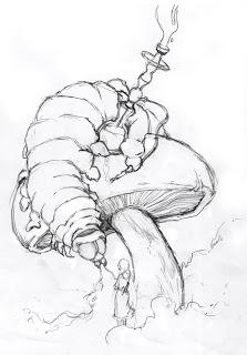 223x320 Smoking Caterpillar Sketch For Alice
