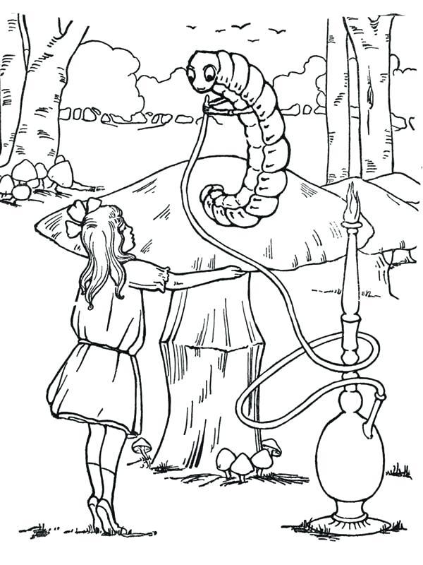 600x800 Alice In Wonderland Coloring Pages 52 Plus In Wonderland Coloring