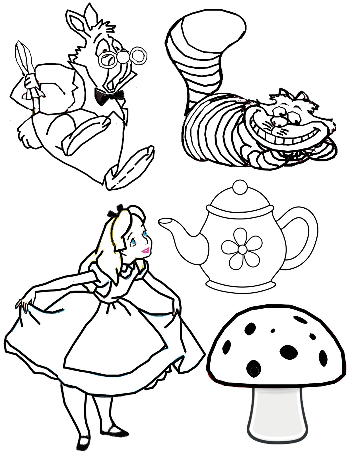 1237x1600 How To Draw Alice From Alice In Wonderland Step 8 Coloring Pages
