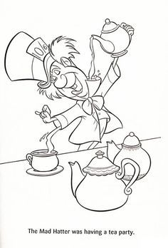 236x348 Mad Hatter Coloring Pages Coloring Page For Kids