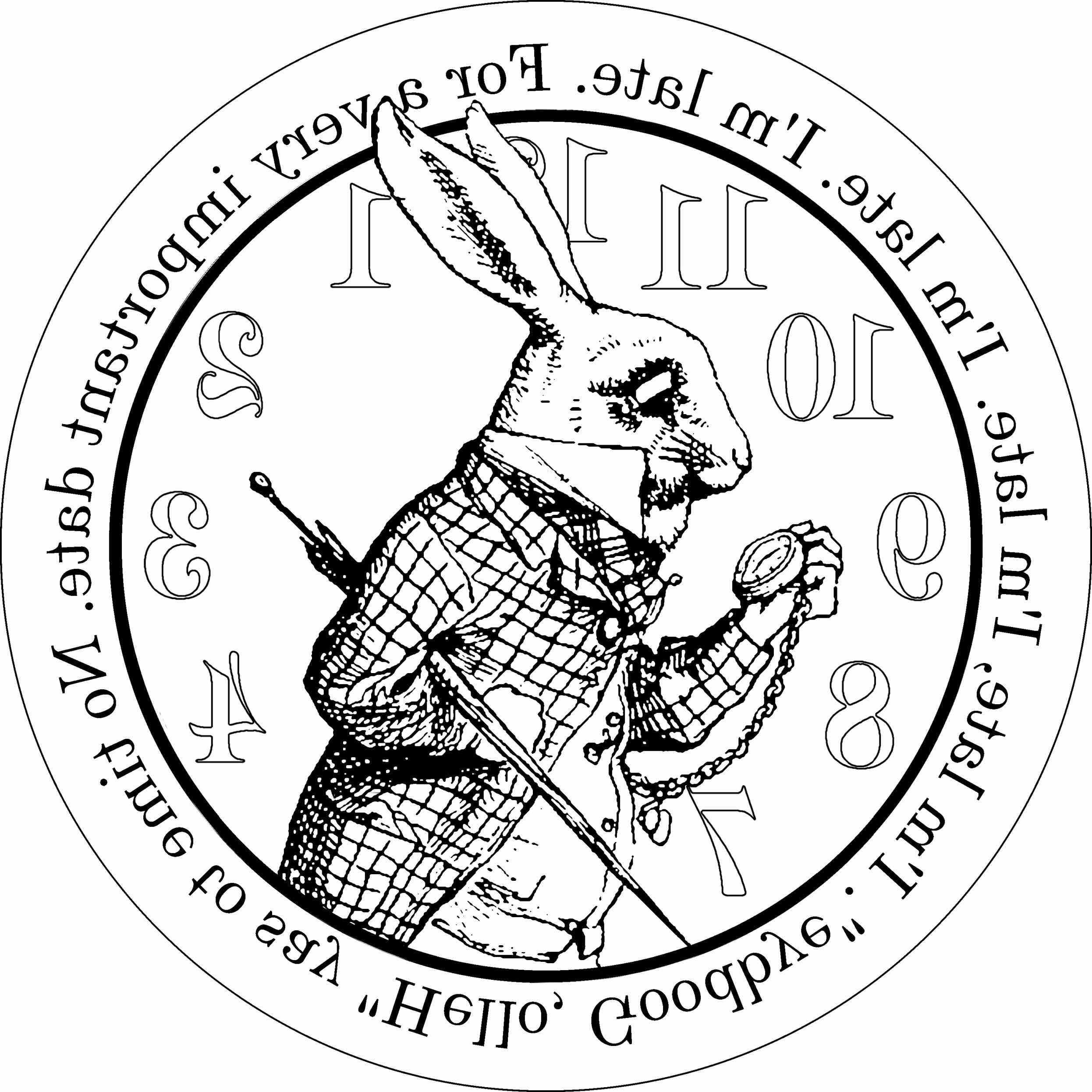 alice in wonderland pocket watch drawing at getdrawings