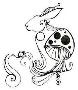 Alice In Wonderland Rabbit Drawing