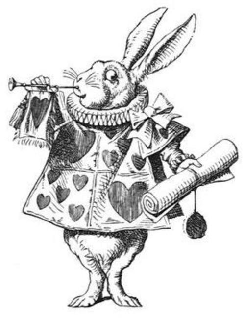 500x651 Alice And Wonderland Text The White Rabbit Tattoo Picture