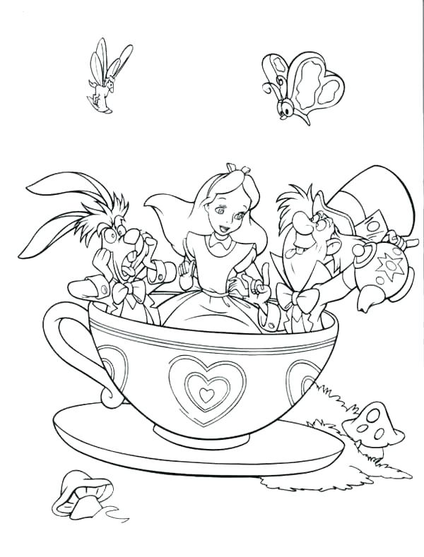 600x789 Mad Hatter Coloring Pages In Wonderland Character Mad Hatter