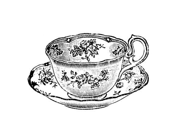 564x435 Teacup Saucer Drawing Alice In Wonderland Teacup Sketch