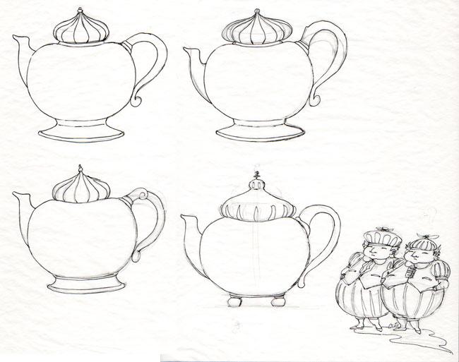 650x513 Drawn Teapot Alice In Wonderland