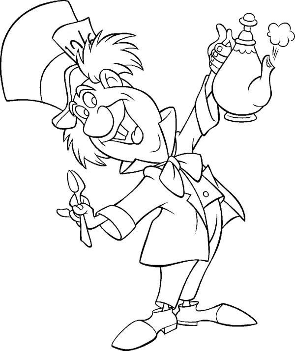 free coloring pages alice in wonderland | Alice In Wonderland Teapot Drawing at GetDrawings.com ...
