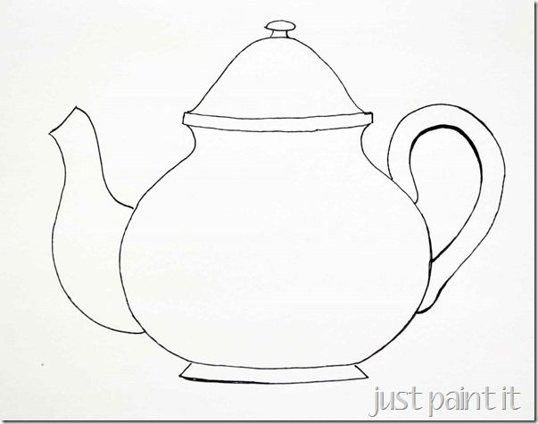 image relating to Teapot Template Printable named Alice In just Wonderland Teapot Drawing at  Cost-free