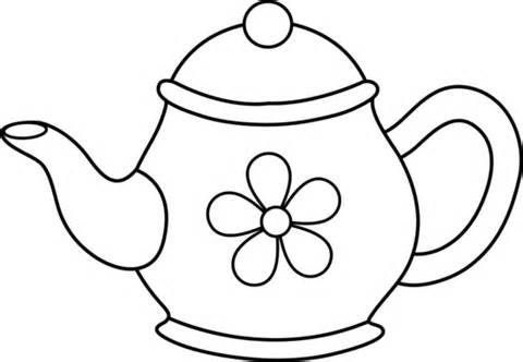 480x332 Teapot Black Clipart