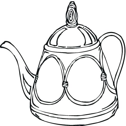 480x480 Teapot Coloring Page Teapot Printable Mothers Day Teapot Card