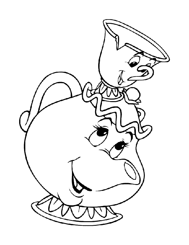 612x792 Teapot Printable Coloring Pages