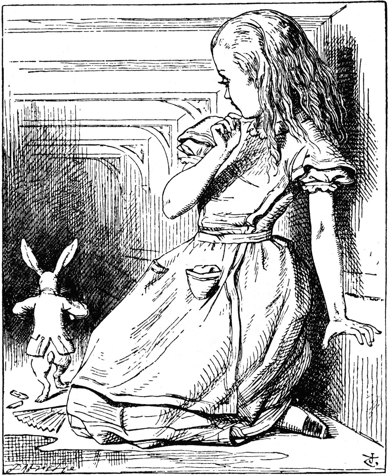 1352x1656 Alice In Wonderland John Tenniel, Alice
