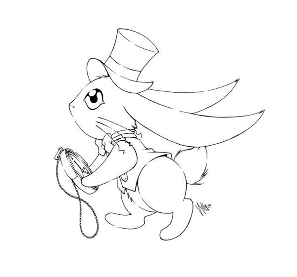 600x561 The White Rabbit By Sureya