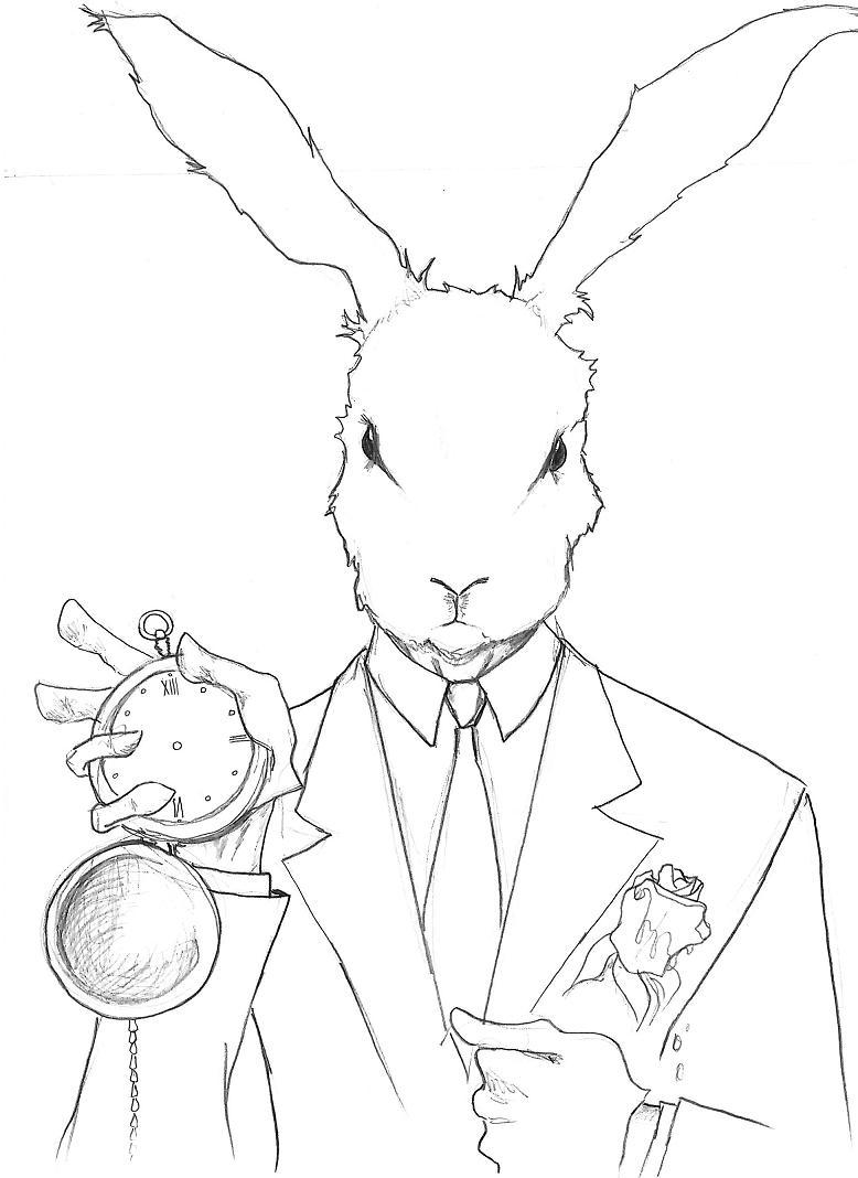 778x1068 Alice In Wonderland White Rabbit Drawing