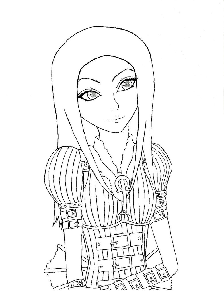 781x1022 Alice Madness Returns Lineart By Stick Chick