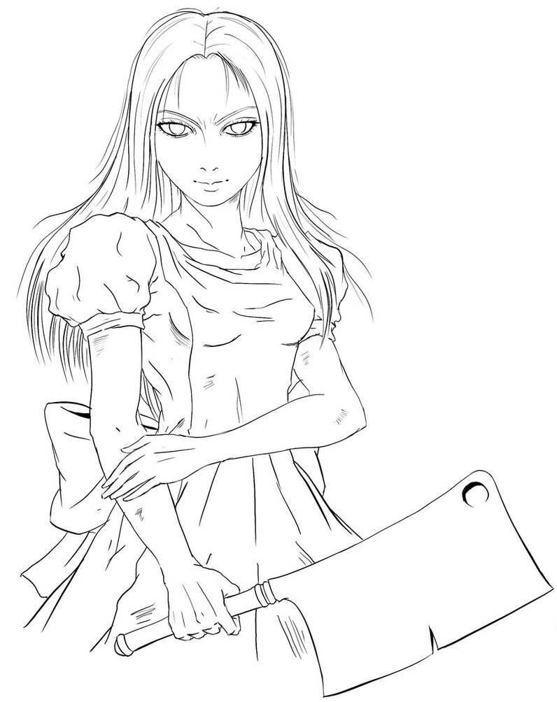 796x1004 Alice Madness Returns Coloring Book Alice Madness Returns Art Book