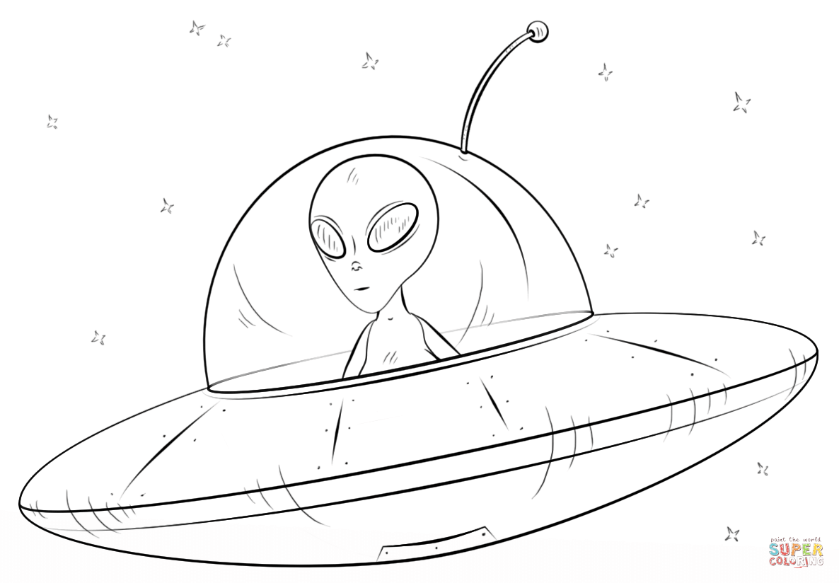 1186x824 Mysterious Alien Spaceship Coloring Pages