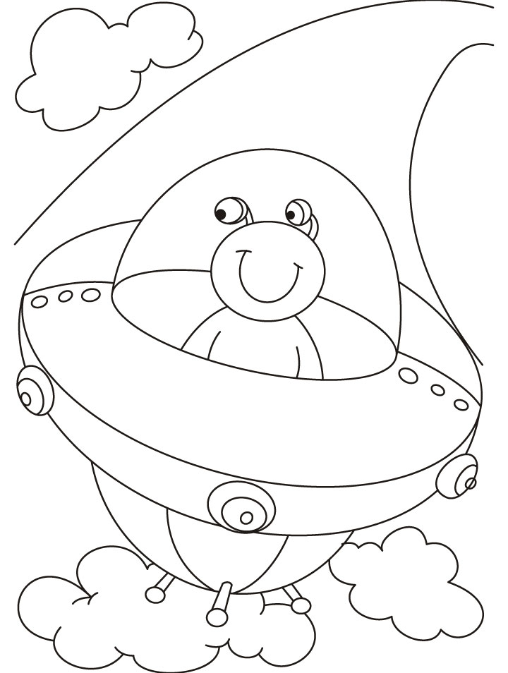 720x954 Ufo Alien Coloring Pages For Kids