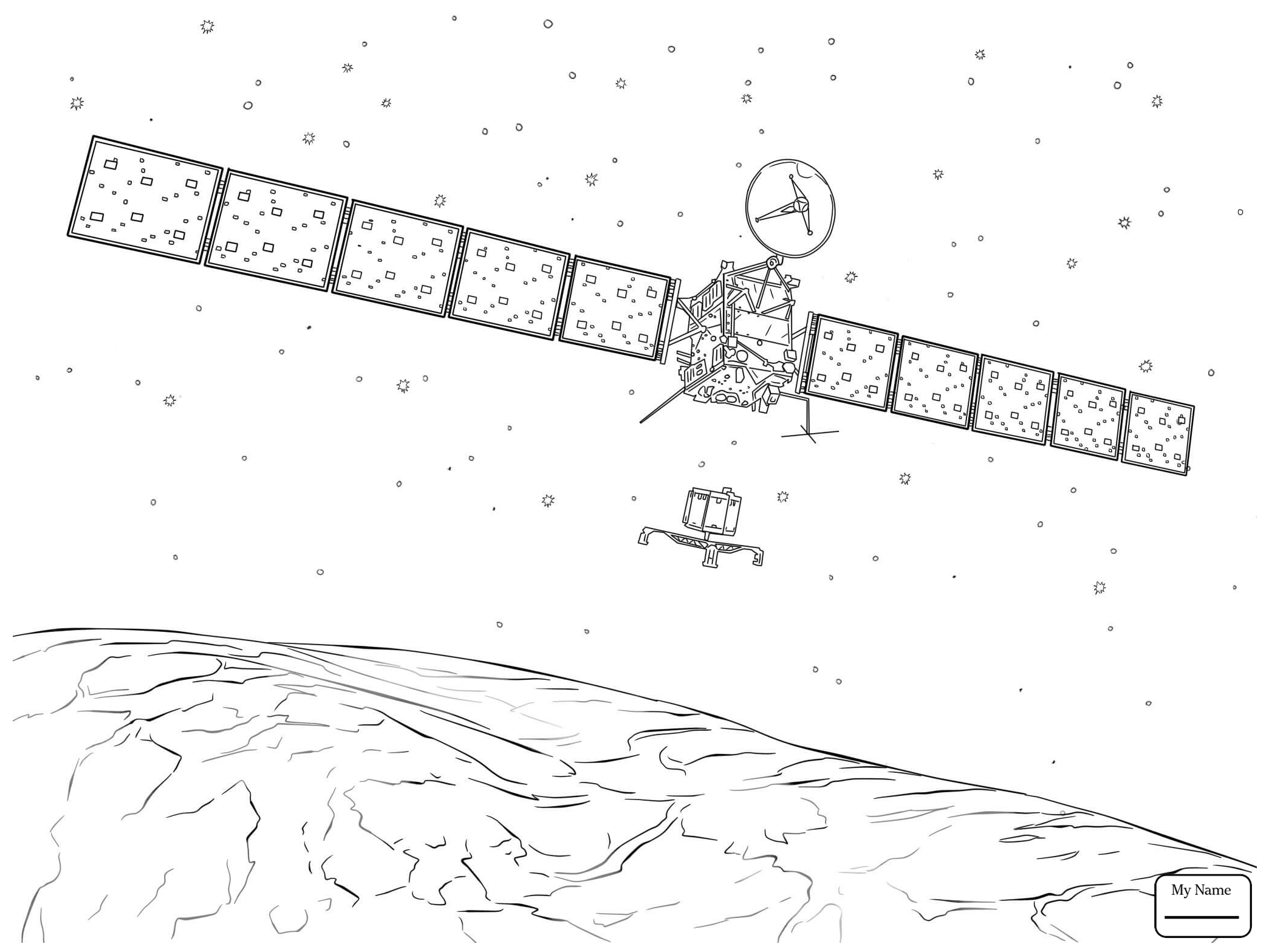 2089x1567 Coloring Pages For Kids Space Astronomy Spaceships Alien Spaceship