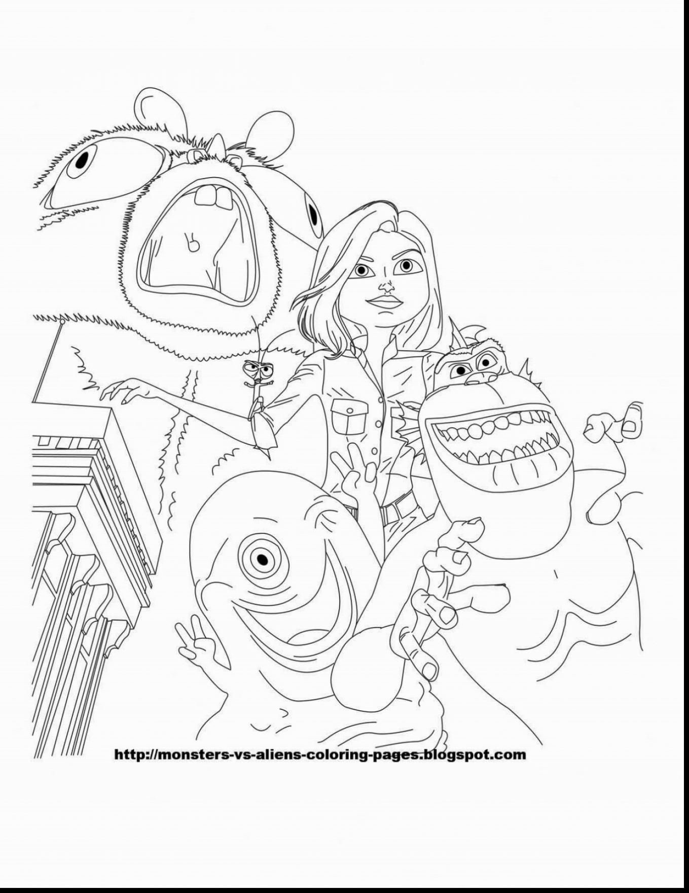 1359x1760 Fantastic Monsters Vs Aliens Coloring Pages With Alien Coloring