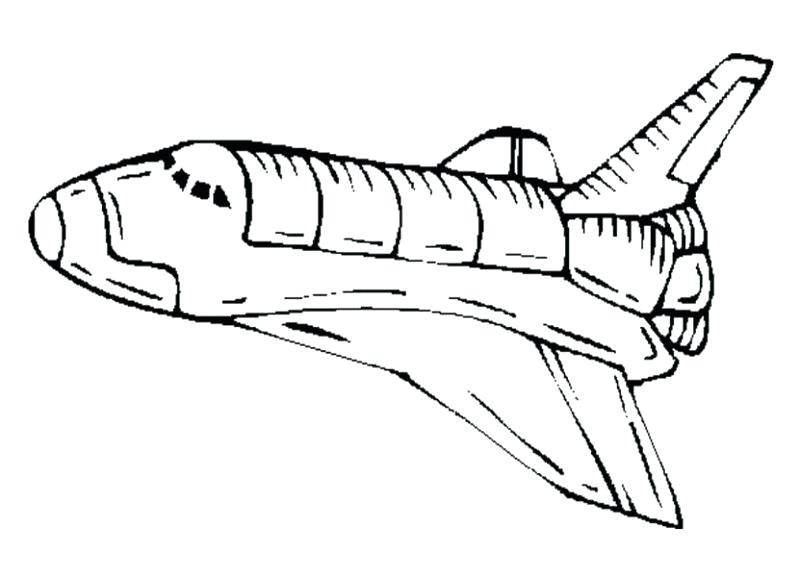 800x577 Space Ship Coloring Page