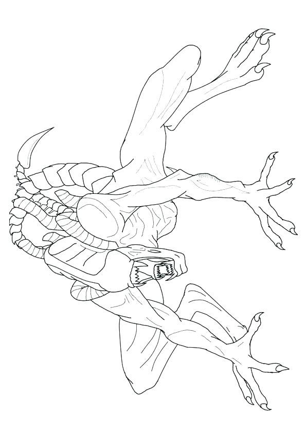 595x842 Alien Coloring Pages Alien Coloring Page Alien Vs Predator