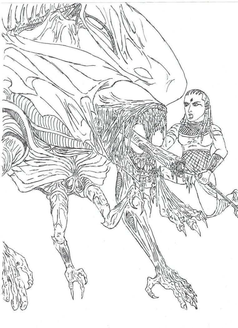 Alien Vs Predator Drawing at GetDrawings.com | Free for personal use ...