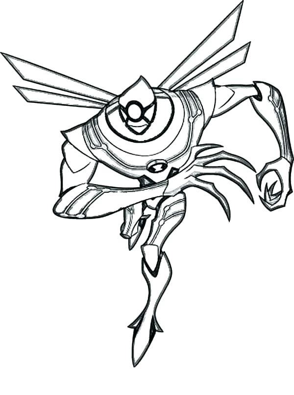 600x806 Alien Coloring Pages Alien Coloring Page From Ultimate Alien