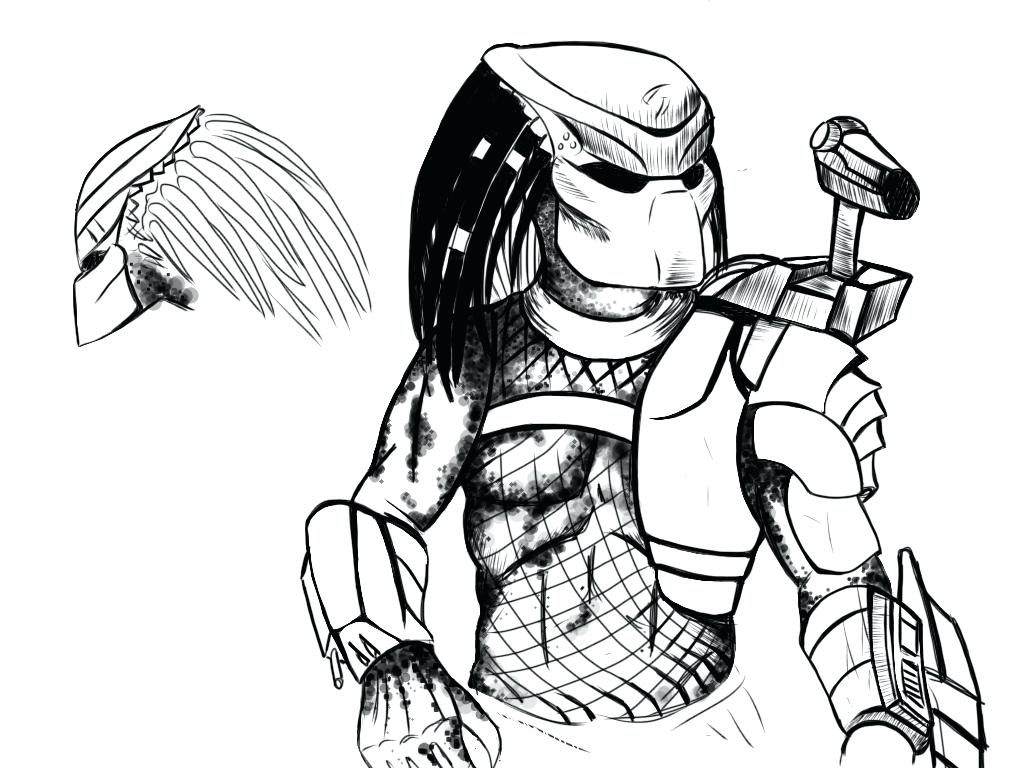Alien Vs Predator Drawing At GetDrawings.com