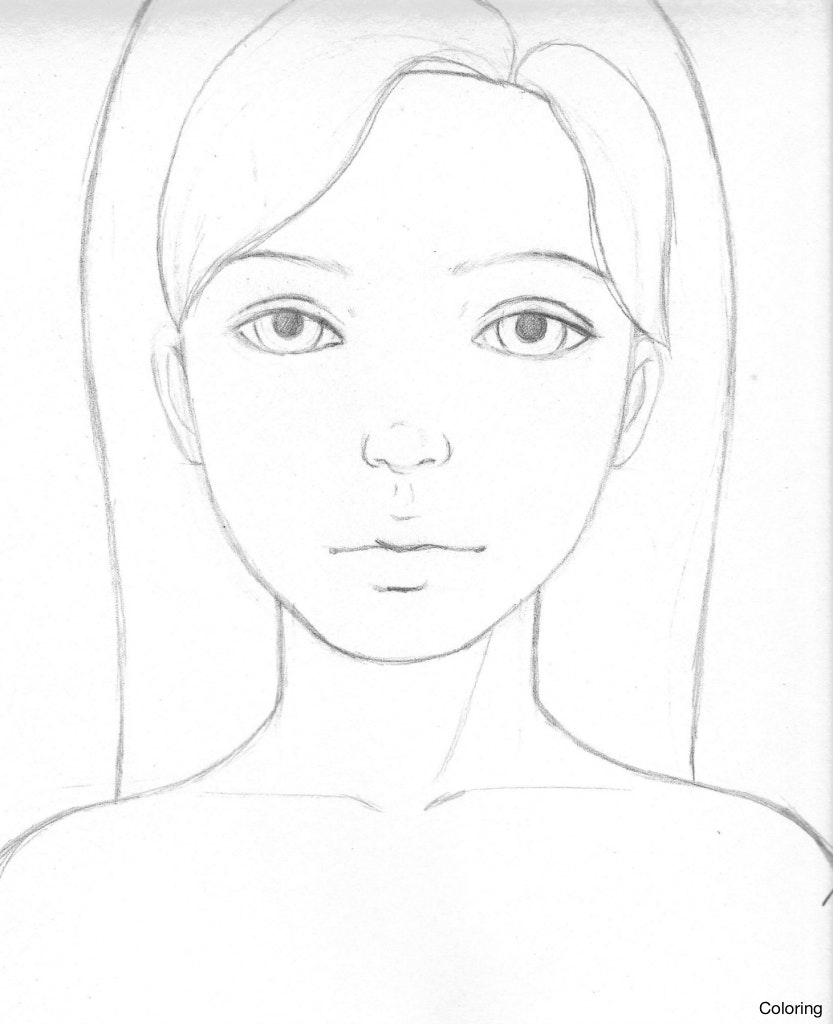 833x1024 Maxresdefault How To Draw A Girl Easy Coloring Cute And 2 6f