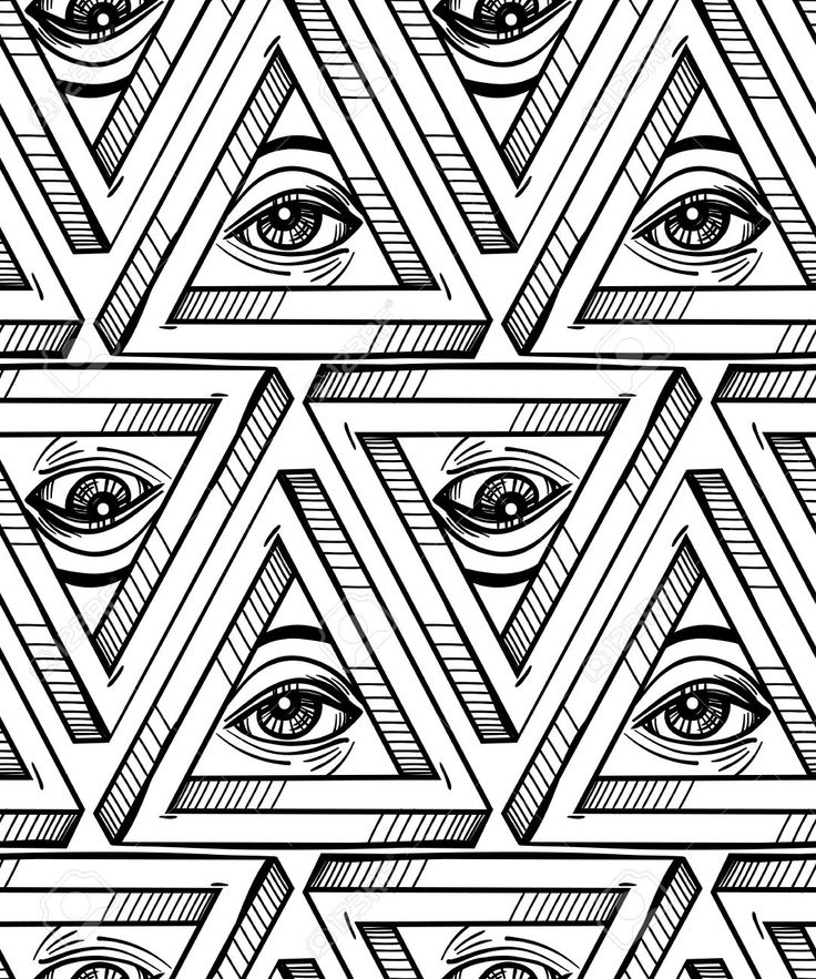 All Seeing Eye Drawing