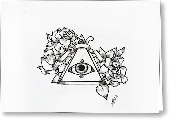 646x470 All Seeing Eye Drawing By Kayla Toomey