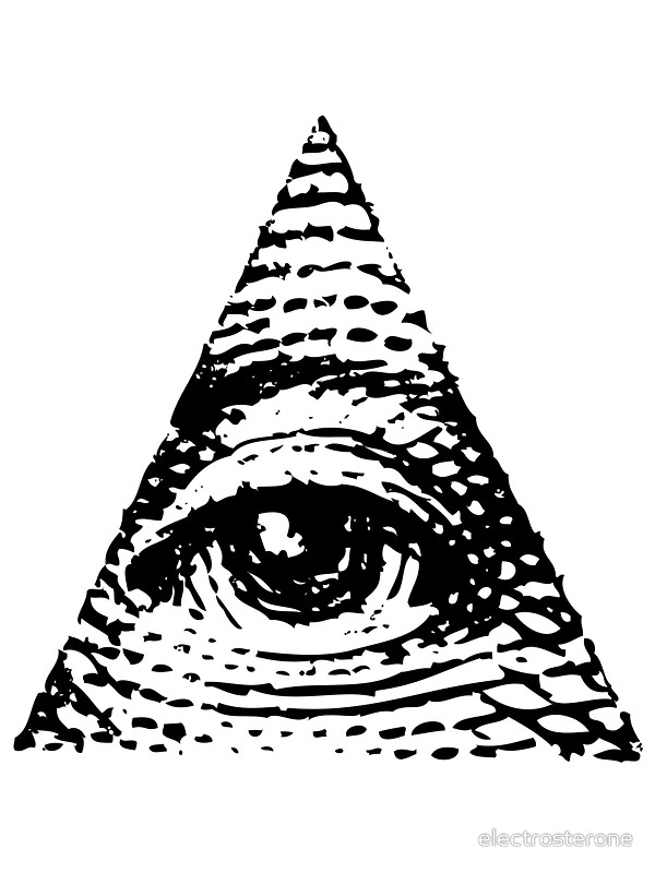 600x800 All Seeing Eye Black Version Stickers By Electrosterone Redbubble