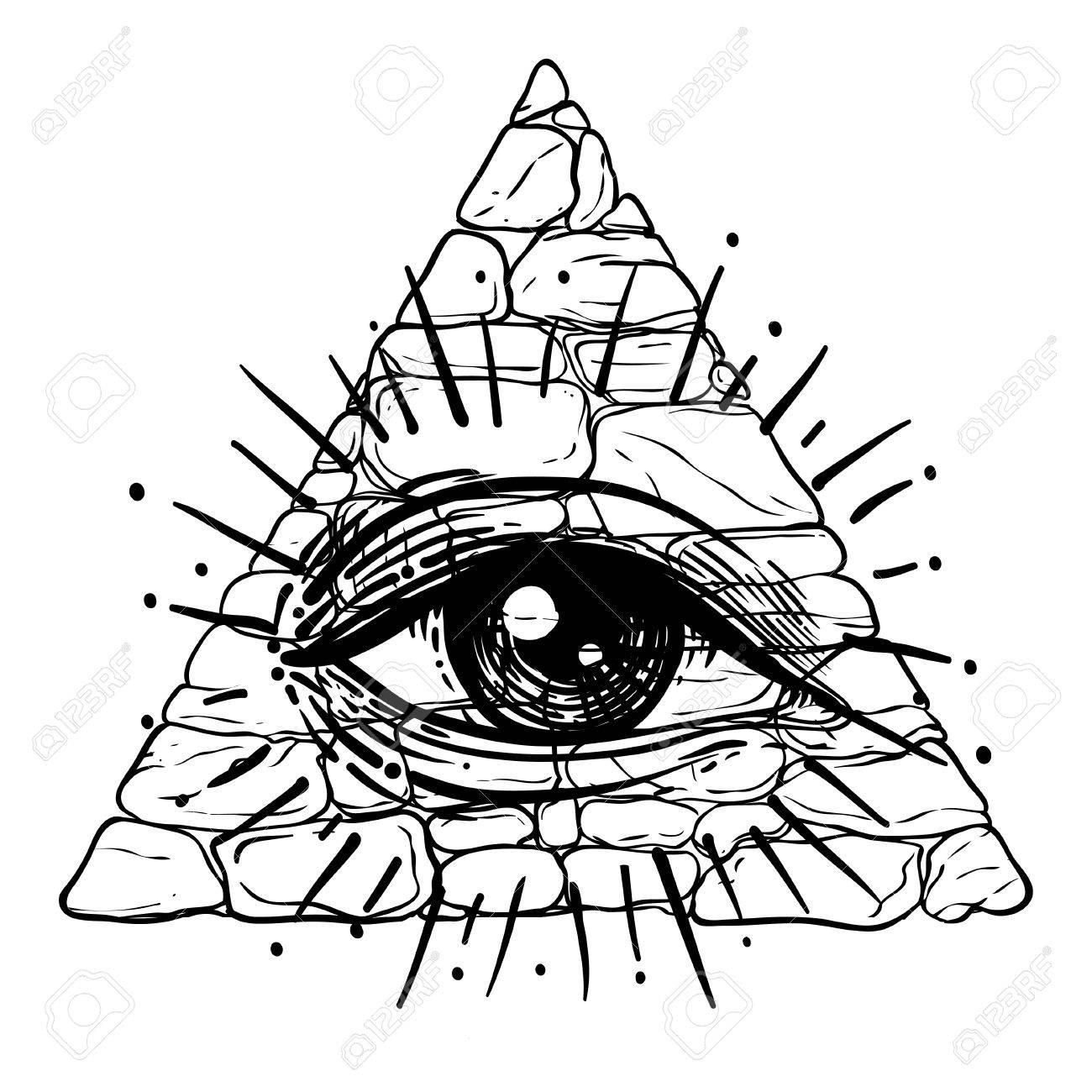 1300x1300 Eye Of Providence. Masonic Symbol. All Seeing Eye Inside Triangle