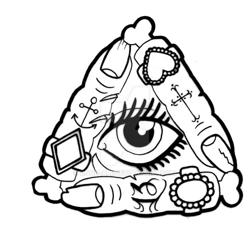 800x806 Zombie Finger All Seeing Eye By Rock Ali