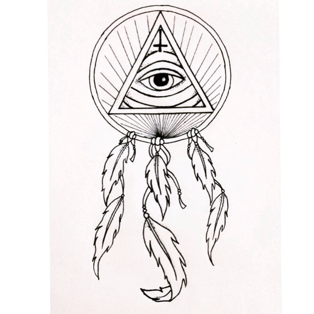 640x640 My Latest Tattoo Design Of An All Seeing Eye And Dream Catcher