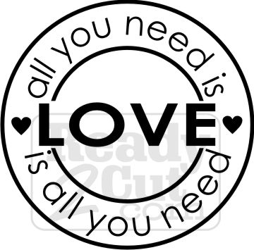 360x355 All You Need Is Love Vector Graphic File
