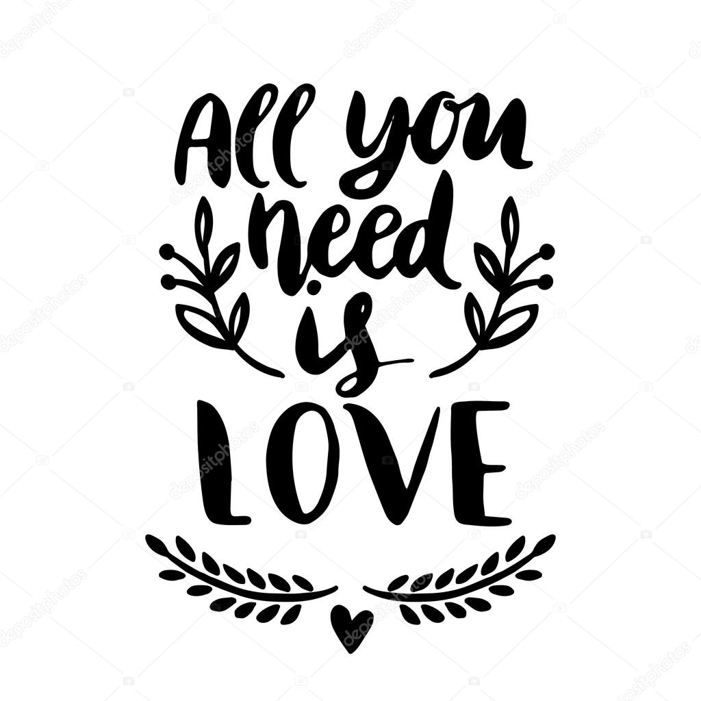 1024x1024 All You Need Is Love Stock Vector Maria Galybina