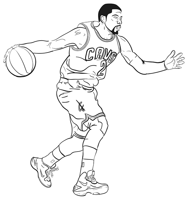 600x640 Kyrie Irving Playing Drawings Kevin Durant Drawings