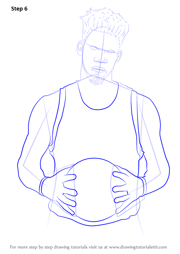596x842 Learn How To Draw Jimmy Butler (Basketball Players) Step By Step
