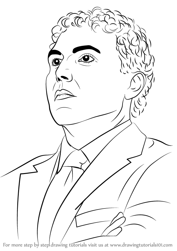 595x844 Learn How To Draw Josh Pastner (Basketball Players) Step By Step