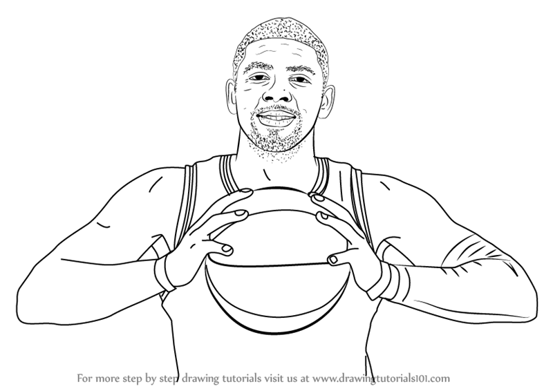 800x566 Learn How To Draw Kyrie Irving (Basketball Players) Step By Step