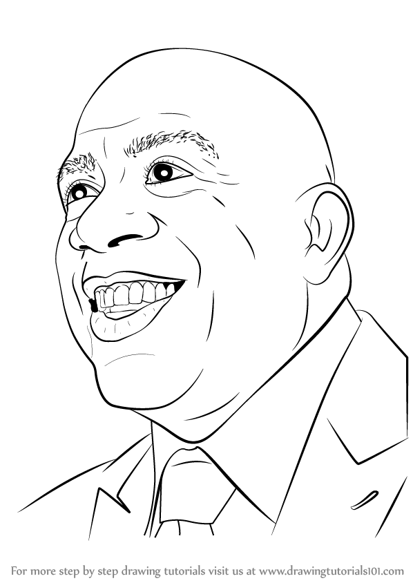 598x844 Learn How To Draw Magic Johnson (Basketball Players) Step By Step