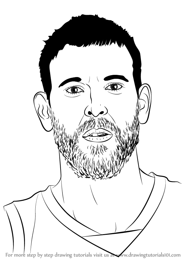 598x844 Learn How To Draw Marc Gasol (Basketball Players) Step By Step