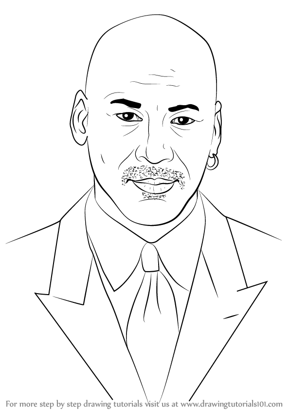 598x844 Learn How To Draw Michael Jordan (Basketball Players) Step By Step