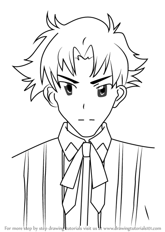 567x800 Step By Step How To Draw Genshirou Saji From High School Dxd